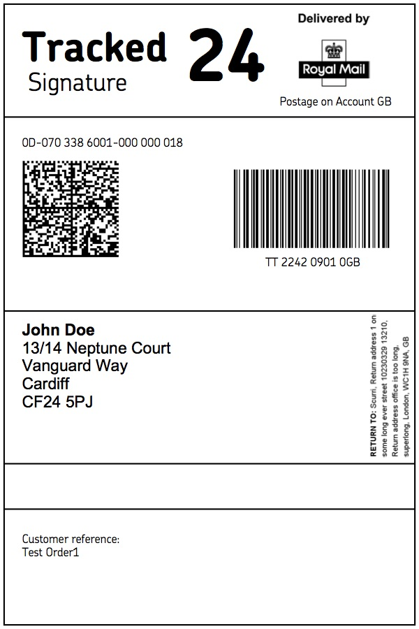 New Royal Mail Labels – Live Scurri Support